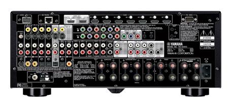 Задняя панель AV-ресивера Yamaha RX-A1010